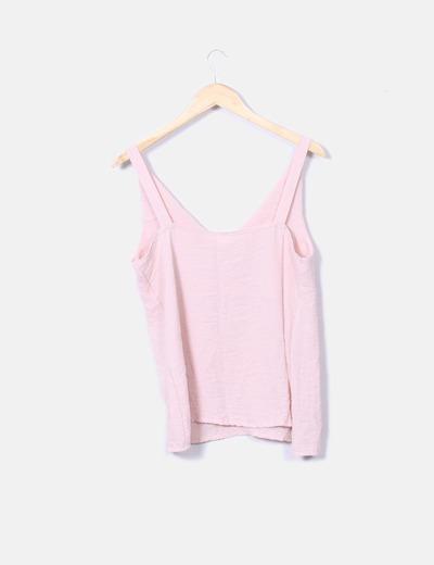 Blusa rosa palo tirantes