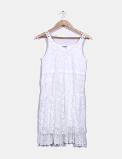 Robe blanc brodée boho Ciao Milano