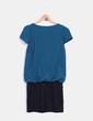 Vestido bicolor combinado Made in Italy