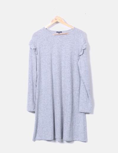 Vestido gris jaspeado