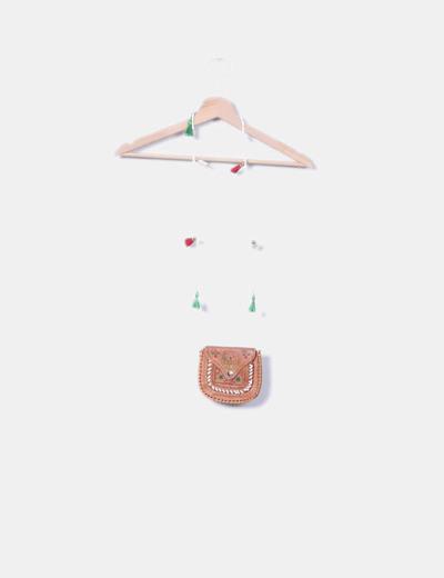 Bolso de cuero mini combinado NoName