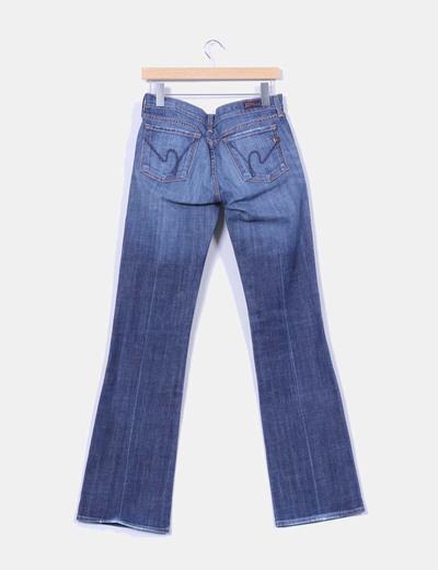 Jeans denim bootcut tiro bajo
