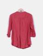 Blusa rosa de manga larga  detalle cremallera escote Springfield