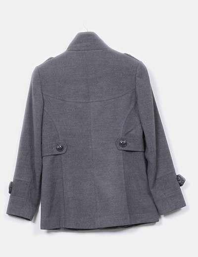 Abrigo corto gris marengo