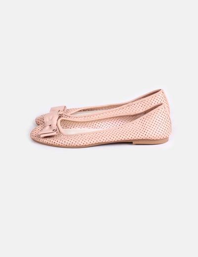 verse bien zapatos venta online para la venta renombre mundial Bailarina rosa palo troquelada