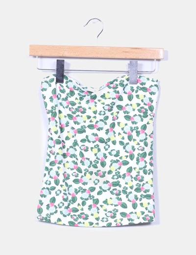 Falda con estampados florales NoName