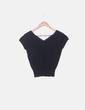 Camiseta tricot negro con strass Roberto Verino