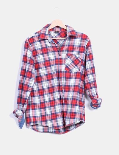 Camisa estructurada cuadros rojos Dickies