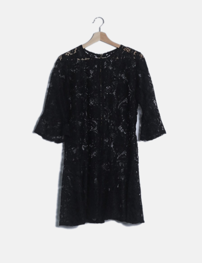 Vestido encaje negro cremallera