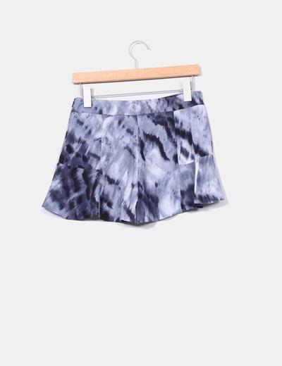 Falda pantalon azul aguas