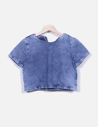 Camisa jeans azul Suiteblanco
