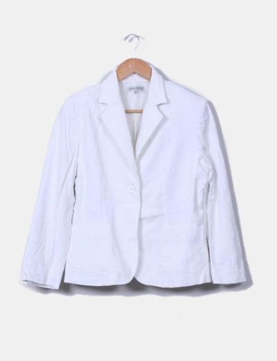 Blazer blanca texturizada Merletti