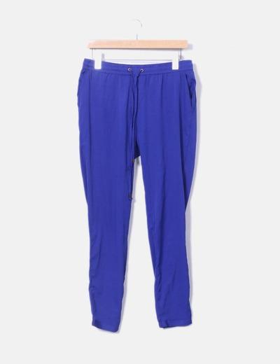 Pantalón azul klein fluido