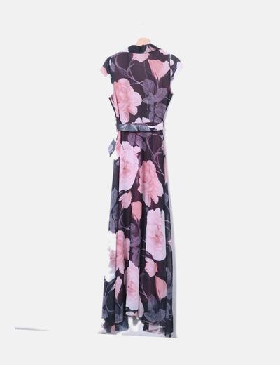 Robe rose maxi florale Suiteblanco