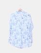 Camisa blanca y azul estampada H&M