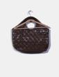 Bolso marrón de mano texturizado Blend