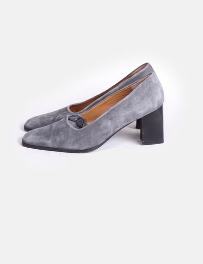 Zapatos Salon Tacon Cuadrado