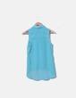 Camisa azul de gasa Bershka