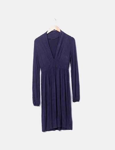 Vestido azul marino manga larga