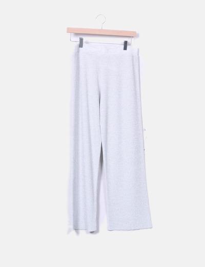 Pantalón fluido gris glitter