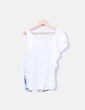 Camiseta asimétrica blanca print mariposas Bershka