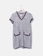 Vestido tweed cuello pico Zara