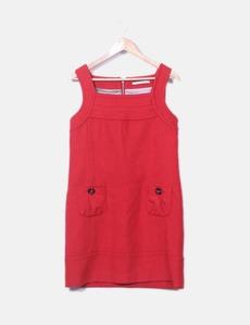 4417e874d9b Vestido rojo de punto Van-Dos
