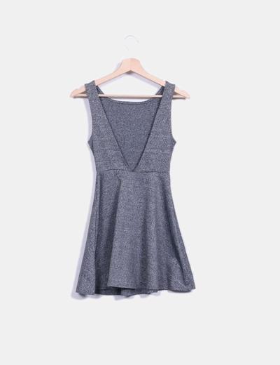 Vestido elastico evase escote espalda