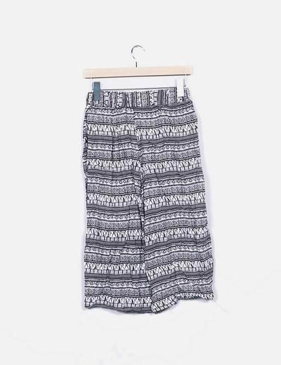 Pantalon culotte estampado