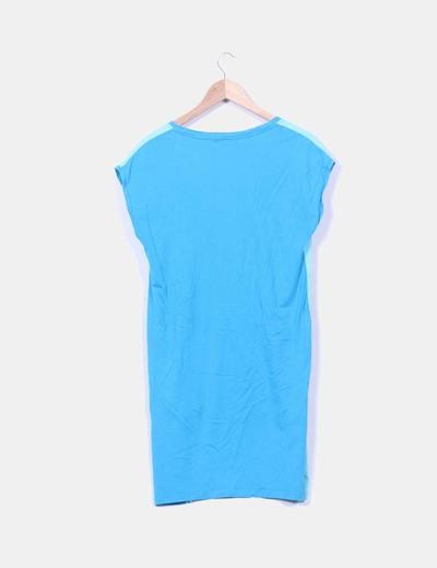 Vestido azul estampado