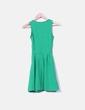Vestido verde escote redondo Pull&Bear