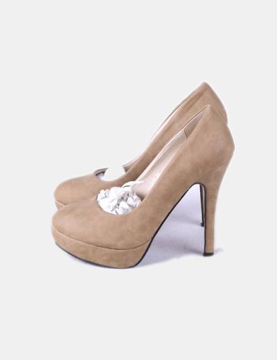 f3d0e1c6b8d Clowse Zapato de tacón beige con plataforma (descuento 67%) - Micolet