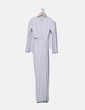 Vestido blanco largo con abertura H&M
