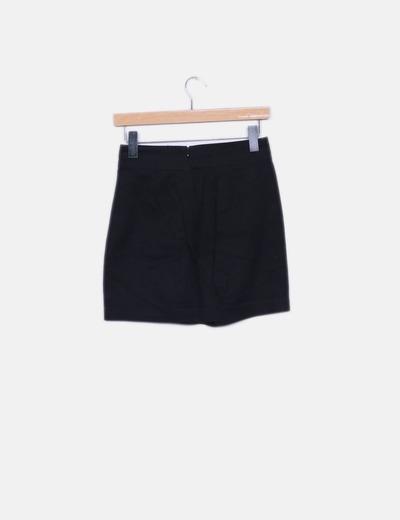 b207a4cee4 Pepe Jeans Falda recta negra (descuento 80%) - Micolet