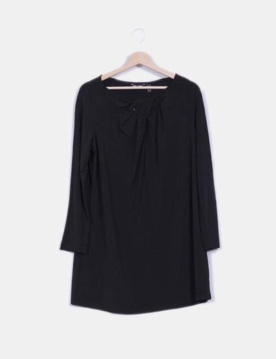 Vestido negro de licra Punt Roma