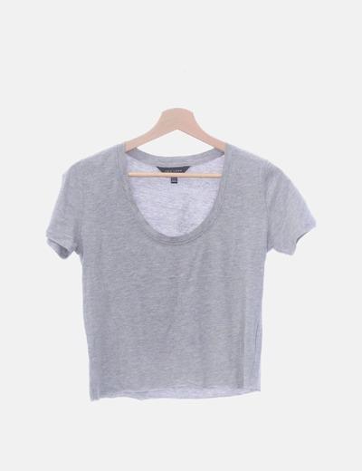 Camiseta gris crop