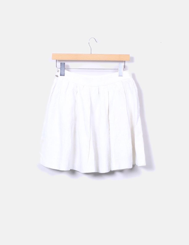662a435735 online texturizada evasé Zara baratas blanca Faldas Falda qfRB1W for ...