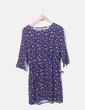 Vestido azul marino estampado H&M
