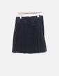 Falda midi negra de pana Massimo Dutti
