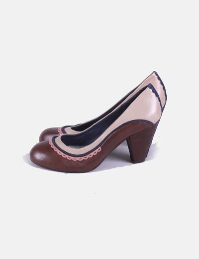 Zapatos heels bicolor