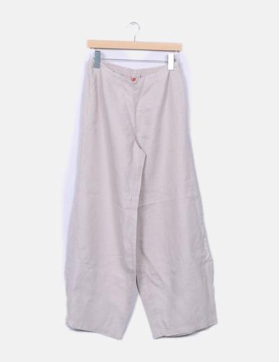Pantalon beige palazzo NoName