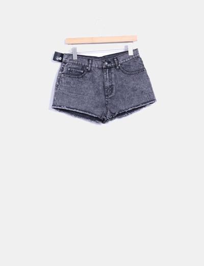 Shorts denim gris desflecada Cheap Monday