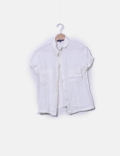 Camisa fluida cruda manga corta