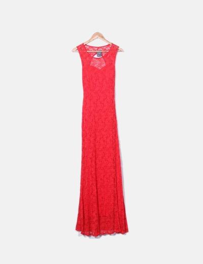 Robe rouge en dentelle Style & Co Paris