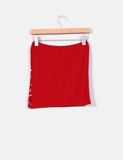 Zara Top rouge à sequins bustier (réduction 77%) - Micolet 9d84c483b5db