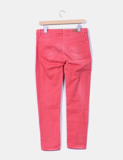 Jeans denim rosa recto