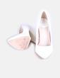 Zapato tacón cuadrado efecto piel animal Lefties