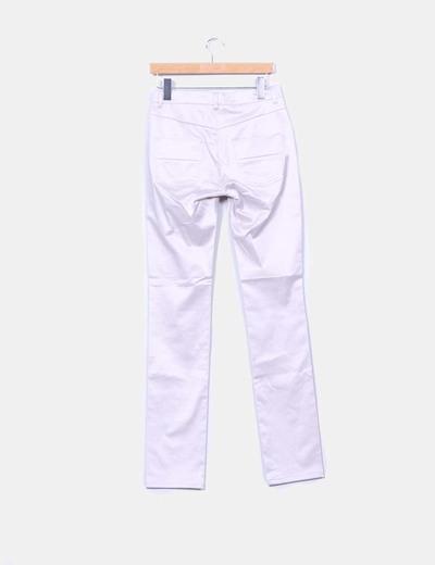 Pantalon pitillo satinado