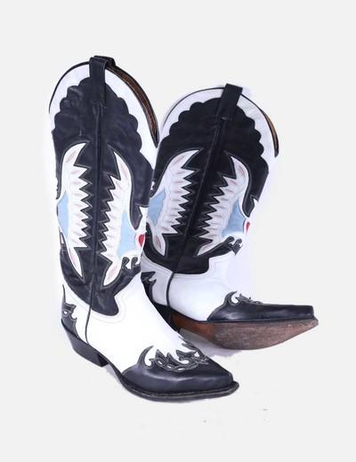 Bota cowboy multicolor