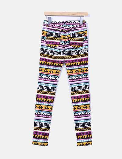 Pantalon estampado pitillo
